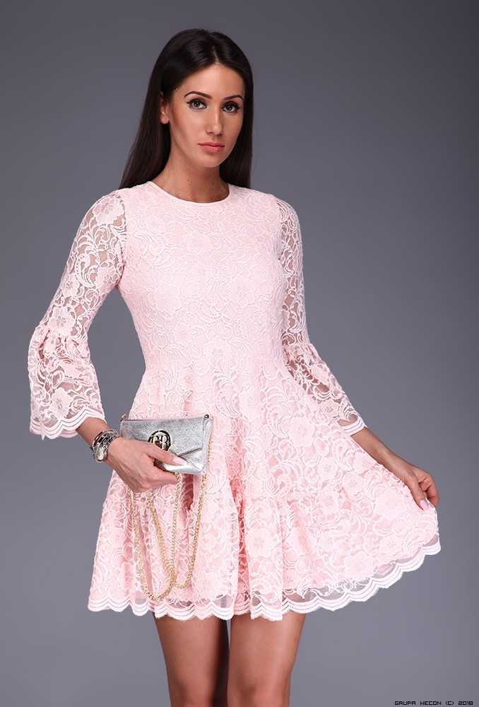 LUXURY ONLINE: Kleid MADE IN ITALY farbe pastellrosa ...