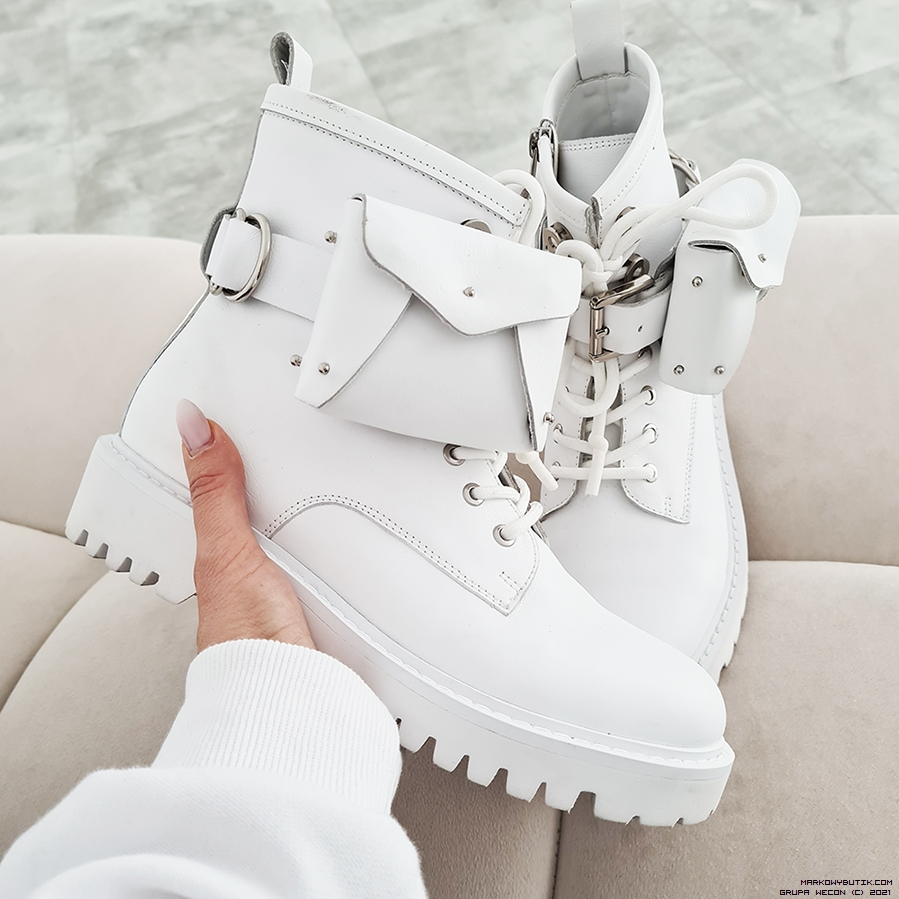 Luxury Online Shoes Gino Rossi Colour White Shoes Boots Made In Italy Silver Accessories